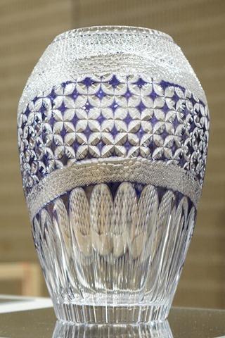 江戸切子花瓶作品