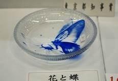 江戸切子「花と蝶」細小路圭
